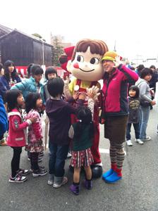 ONE POINT-菓子祭前日際_ゆるキャラペコちゃん
