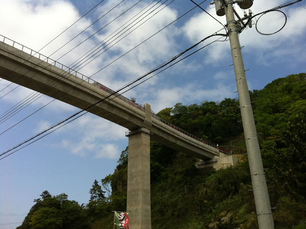 ONE POINT-餘部鉄橋と汽車